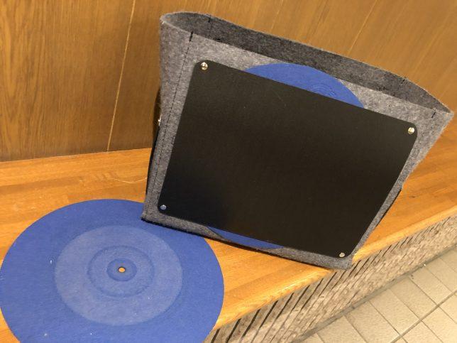 スリップマット収納可のレコードバッグ