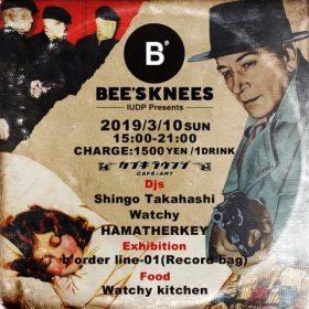 3/10(日)はBee's Knees@カブキラウンジ